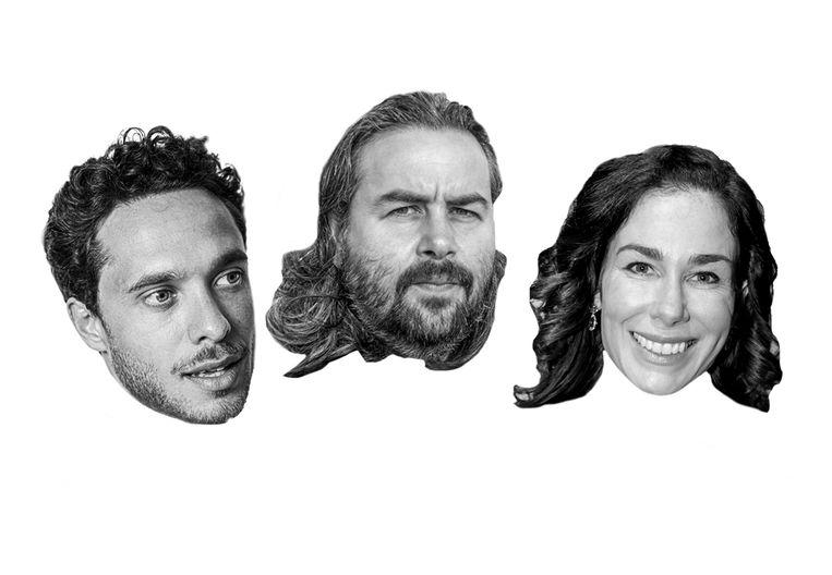 Van links naar rechts:  Shady El Hamus,  Hoyte van Hoytema en Halina Reijn Beeld Studio V