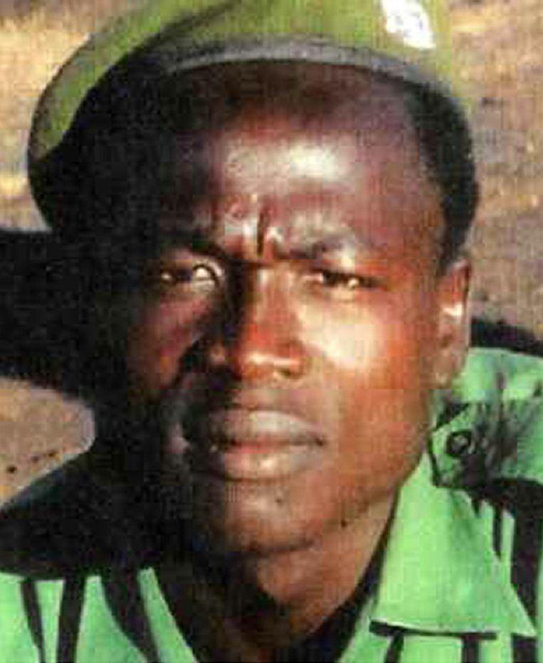 Een ongedateerde foto van de legerleider Dominic Ongwen. Beeld afp