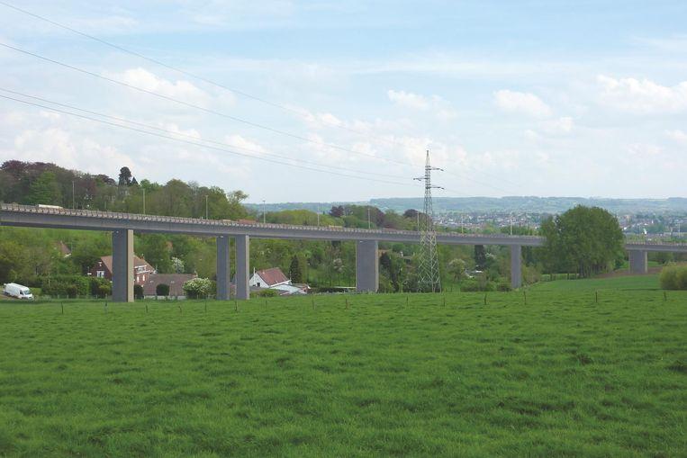 Simulatie - Een viaduct door de vallei van Schavaart is volgens burgercomité Geen Streep Door Ronse absoluut geen goed idee.