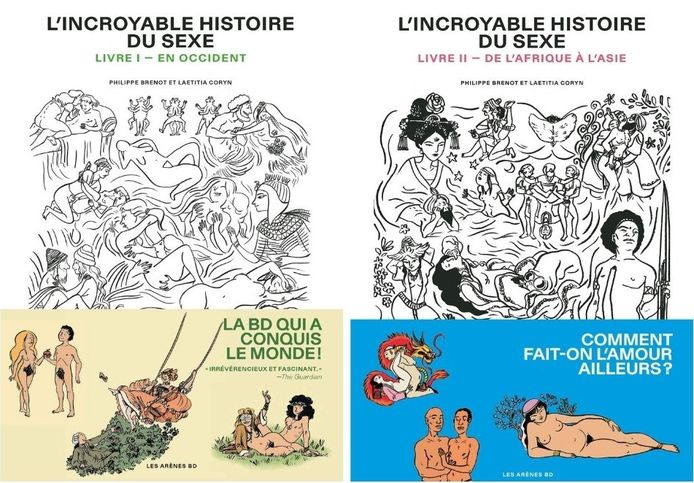 L'incroyable histoire du sexe, tome 1 et tome 2.