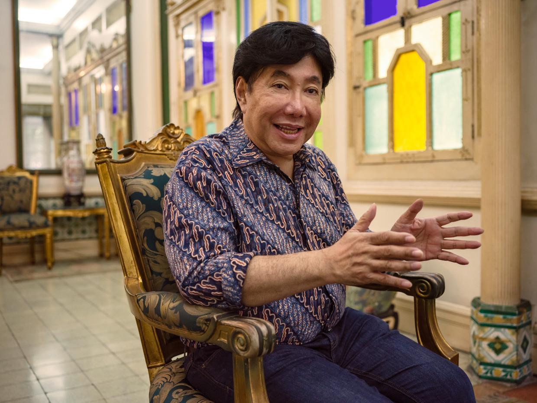 Guruh Soekarnoputra in zijn huis in Jakarta: 'Mijn vader is de grootste founding father van dit land'.