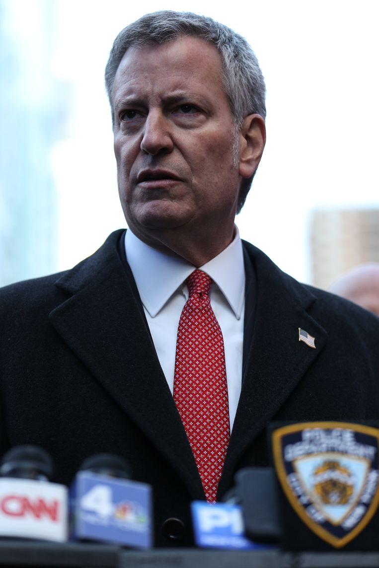 Bill De Blasio, burgemeester van New York.