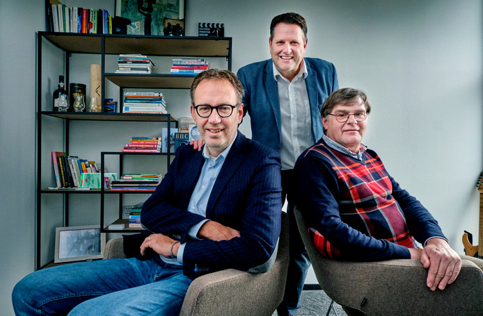 Wilco de Haan (links), Robert Snel (midden) en Albert Roodnat (rechts) van Biic Business Inzicht & Inspiratie Company.