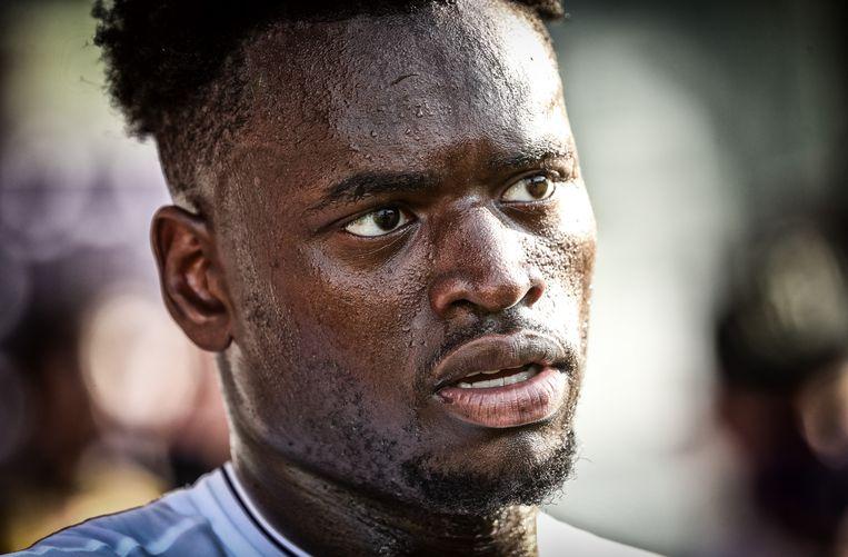 Landry Dimata maakte tegen KV Mechelen zijn eerste minuten in anderhalf jaar tijd.
