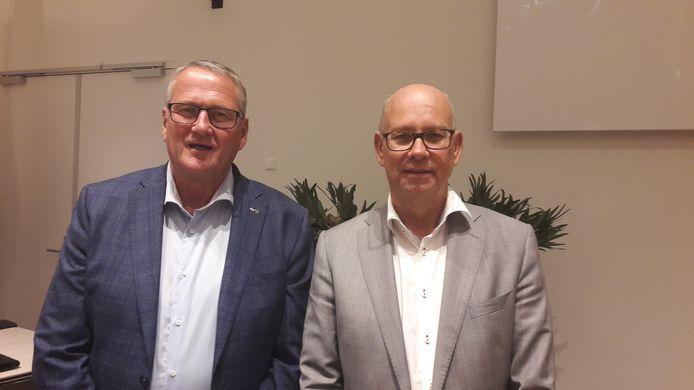 De formateurs Ad van Laarhoven (links) en Gerard Bruijniks van GemeenteBelangen.