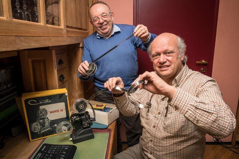 Willy Tillie en Luc Cleenewerck van Heemkring Aan de Schreve