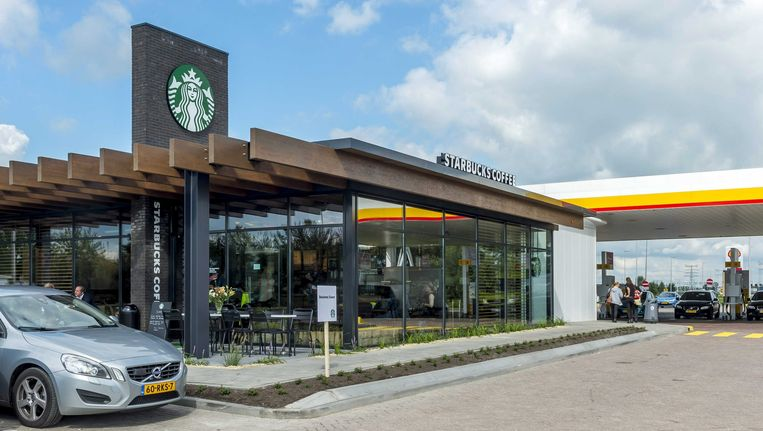 Starbucks in een benzinestation in Breukelen Beeld epa