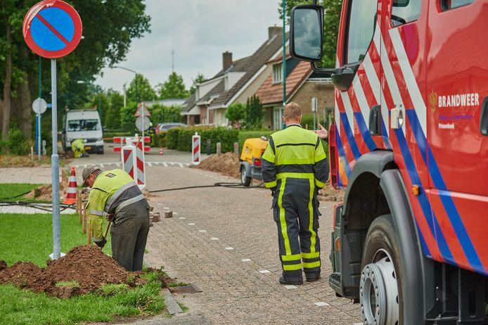 Gaslek Postbaan in Prinsenbeek.