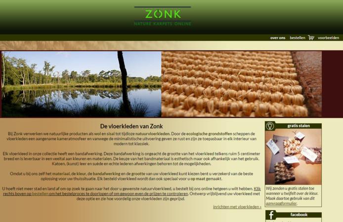 De website van Zonk Vloerkleden.
