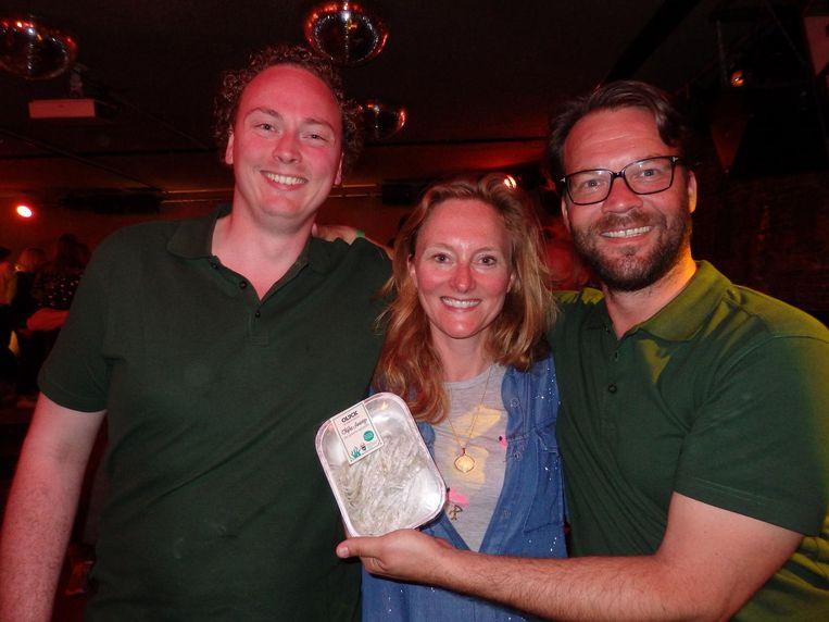 Mark Vooren, Marissa Akersloot en Remko Hol, allen van Olijck. 'Het is essentieel dat we straks met zijn allen zeewier gaan eten' Beeld Schuim