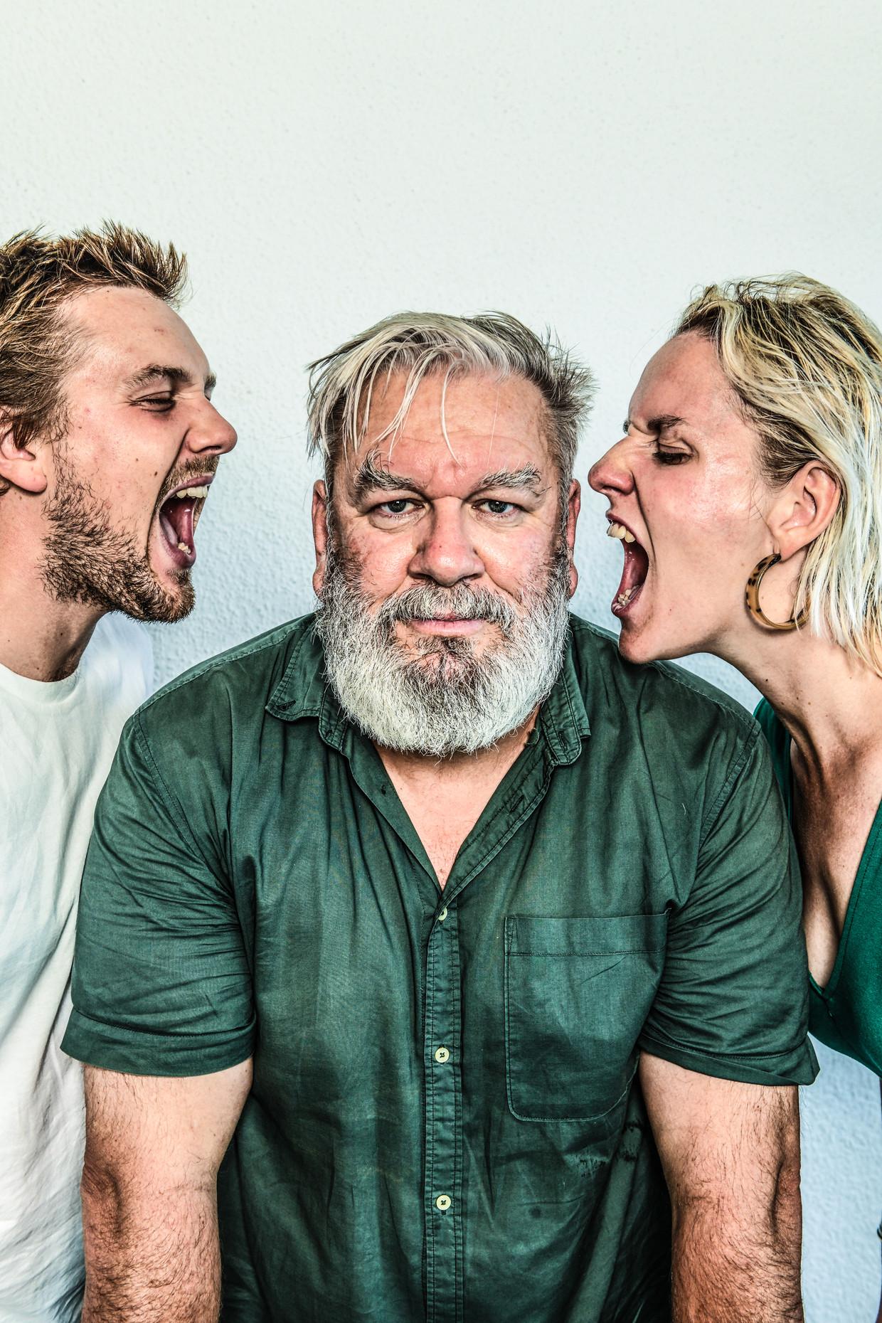Marthe, Emiel en Wim Opbrouck, Gent, 12/08/2020 Publicatie begin sept 2020 Beeld Koen Bauters Humo 2020