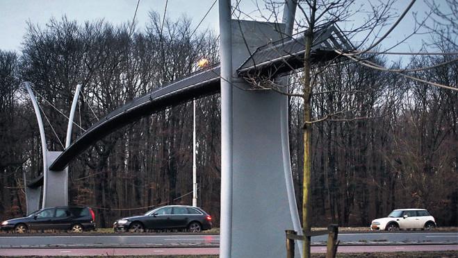 Sinds de opening van de brug is er nog niet één knaagdier overgestoken.