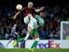 Betis houdt koppositie na remise tegen Milan