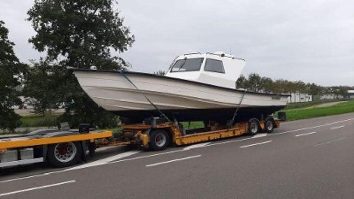 De boot waarop de drugs werden gevonden.