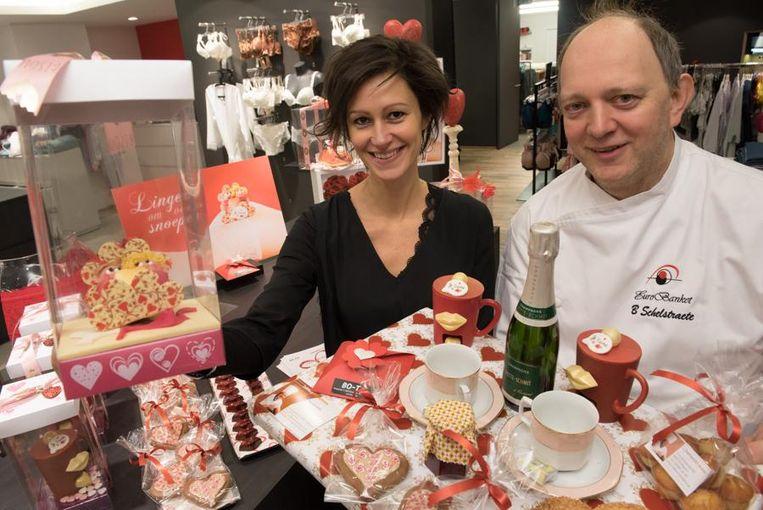 Evelien Goossens van Bo-Té en bakker Bart Schelstraete.