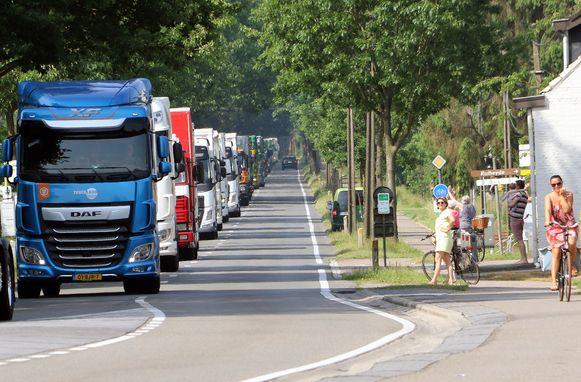 Achiefbeeld van de Truckrun vorig jaar