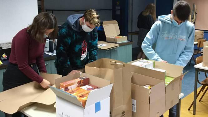 Fairtradewinkel kan door corona niet op school: leerlingen Sint-Vincentiuscollege lanceren voedselboxen