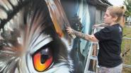 Djoels vereeuwigt Markegemse uil in graffiti