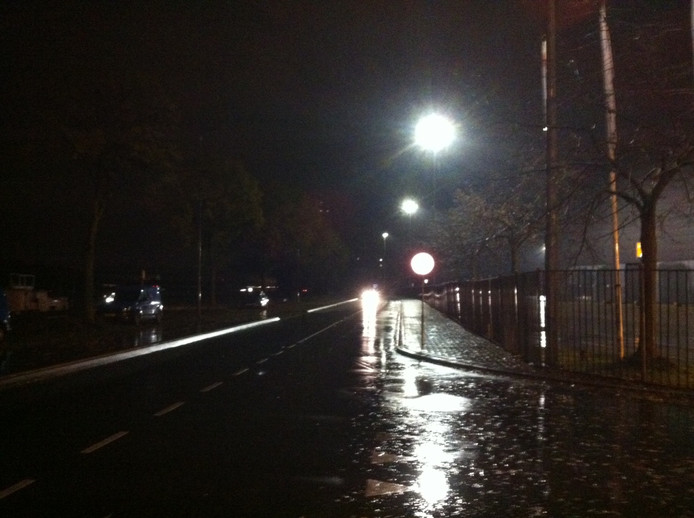 Donkere straten in Den Bosch.