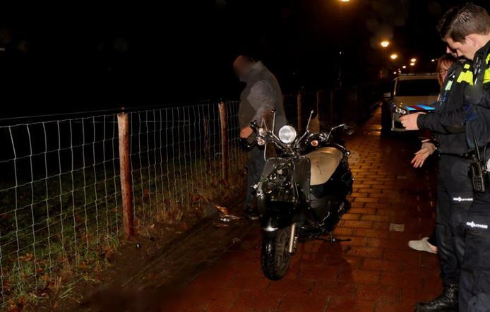 De betrokken scooter.