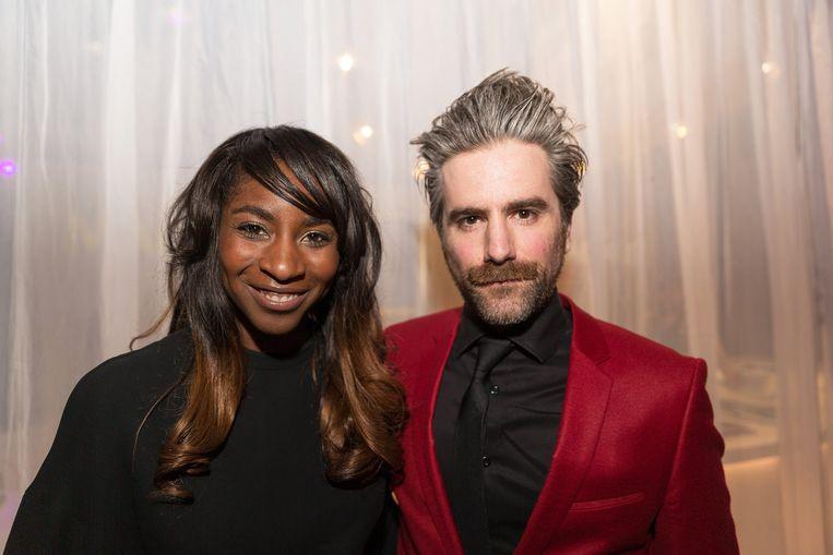Jeroom met zijn verloofde Elodie Ouedraogo.