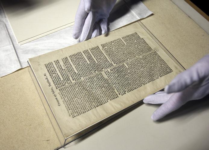 De Courante uyt Italiën, Duytslandt etc. is het oudst bewaarde exemplaar van een gedrukte Nederlandse krant.