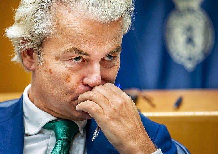 Wilders en zijn advocaten vinden dat de politicus niet veroordeeld mag en kan worden, omdat het proces niet geldig zou zijn.  Beeld ANP