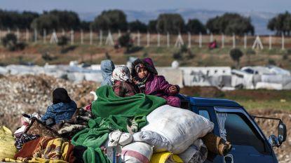 Bijna miljoen mensen sinds december ontheemd door geweld in noordwesten van Syrië