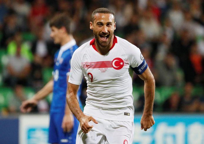 Cenk Tosun na zijn goal tegen Moldavië.