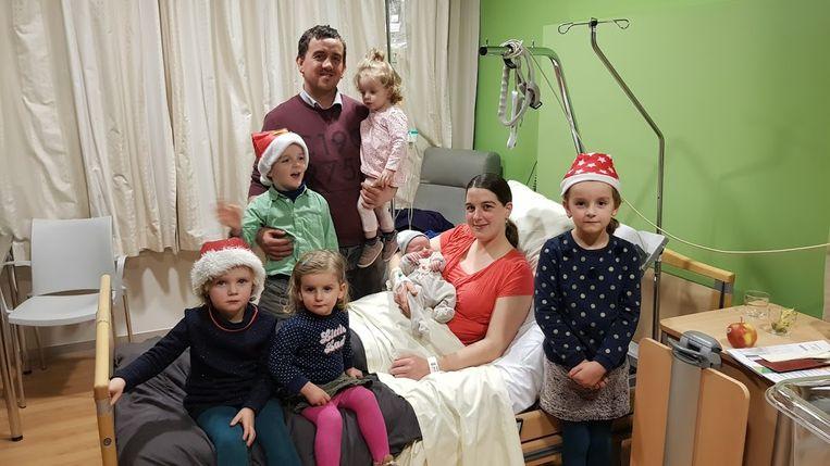 Merijn werd op kerstdag geboren in het Jan Yperman Ziekehuis