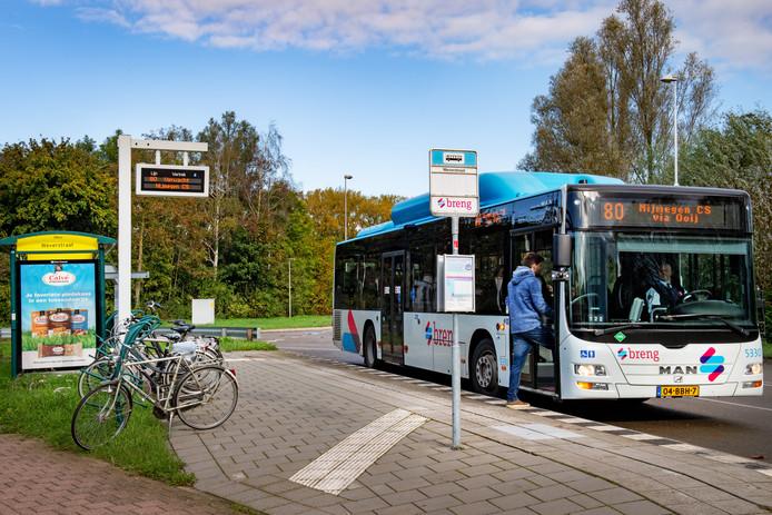 De bushalte in Kekerdom.