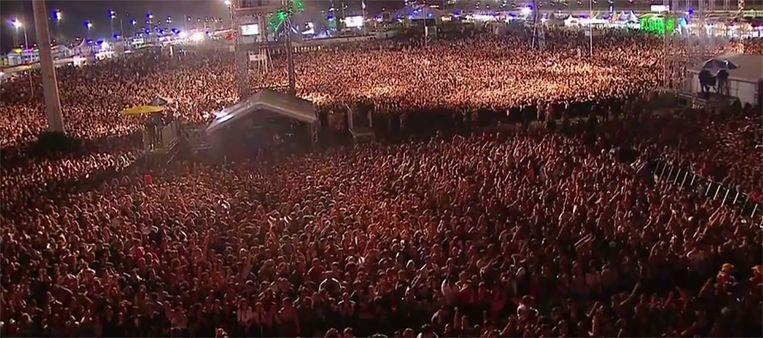 De mensenzee op Lollapalooza in augustus.