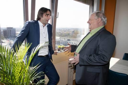 Ronald Leushuis van Talis (links) en wethouder Bert Frings.