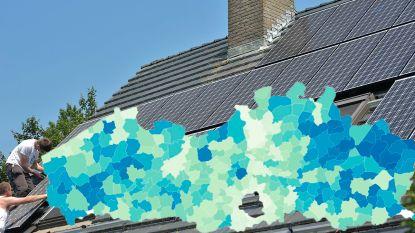 IN KAART: Zoveel zonnepanelen liggen er in jouw gemeente