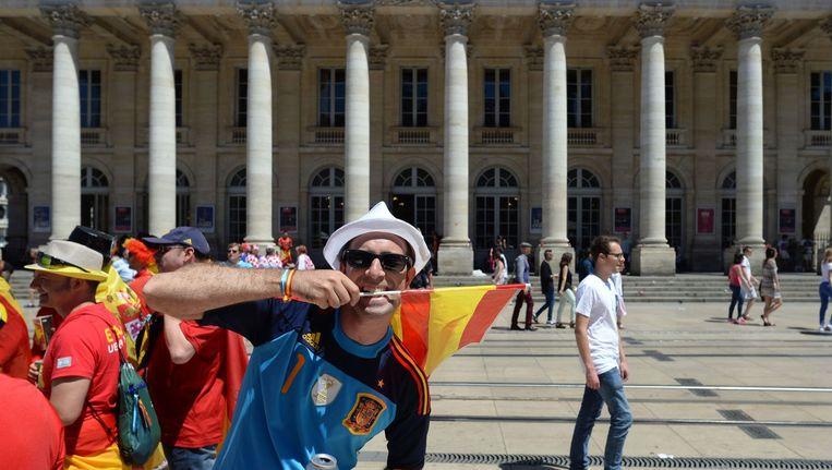 Spaanse fans in Bordeaux Beeld anp