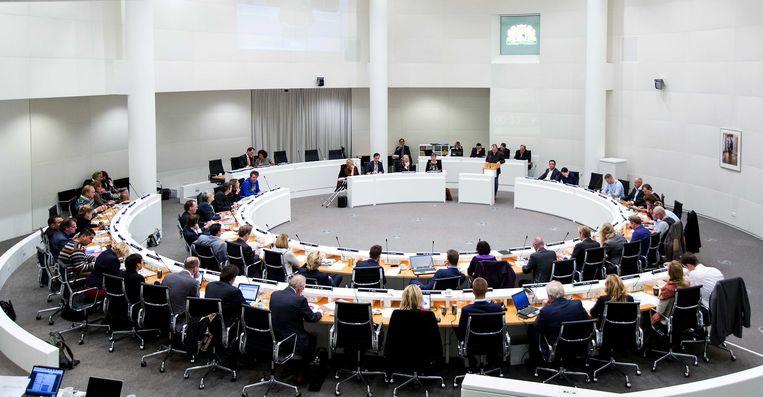 De gemeenteraad van Den Haag, die op dit moment zestien fracties telt Beeld ANP