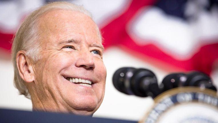 Vice-president Joe Biden op campagne voor Hillary Clinton. Beeld photo_news
