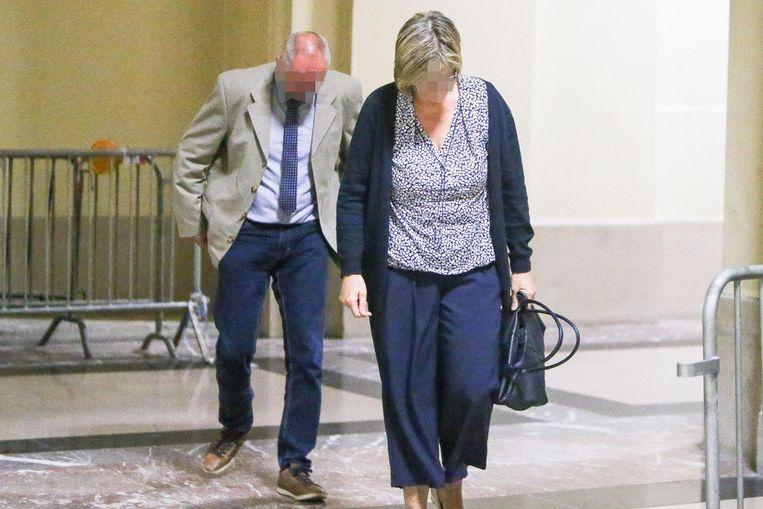 Johnny N. en Christa D.V. in het gerechtsgebouw bij hun verschijning voor de eerste rechter vorig jaar.