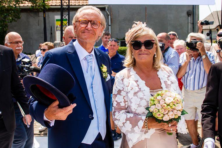 Willy en Marie-Jeanne op hun huwelijk in juli vorig jaar.