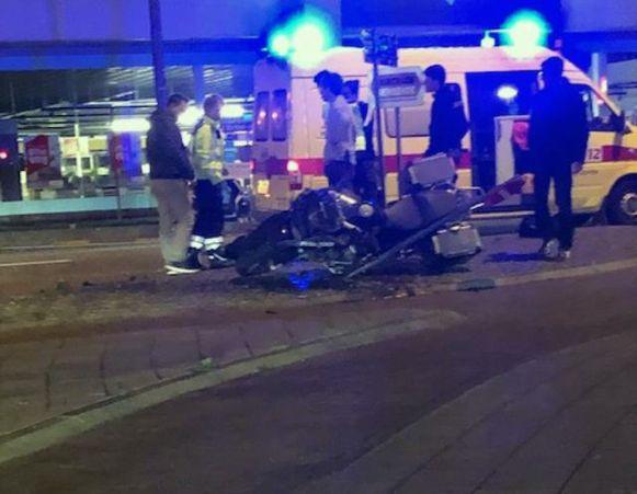 Ongeval met motorrijder op Tiensesteenweg.
