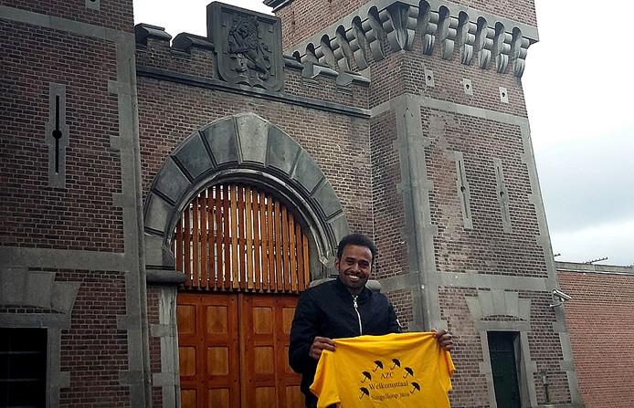 Sudanese Dafaalla Abdalla Diab (30) uit Breda liep mee in de Singelloop.