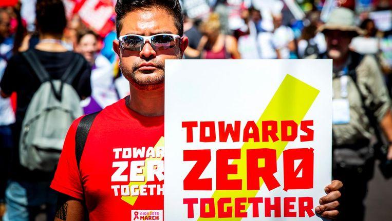Amsterdam is internationaal koploper in hiv-bestrijding en -preventie Beeld ANP