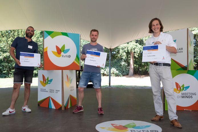 De ondernemersinitiatieven van Bas Berden, Michel Groenenstijn en Bas Tuenter (op foto vlnr) kwamen als beste uit de bus.