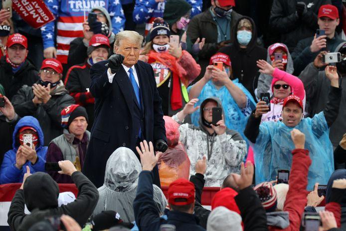 Donald Trump dans le Michigan, hier.