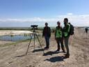Deelnemers aan de '1000 soortendag' op de Marker Wadden.