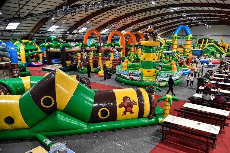 Ook in de Oktoberhallen in Wieze werd al eens een 'Jungle Jump' georganiseerd.