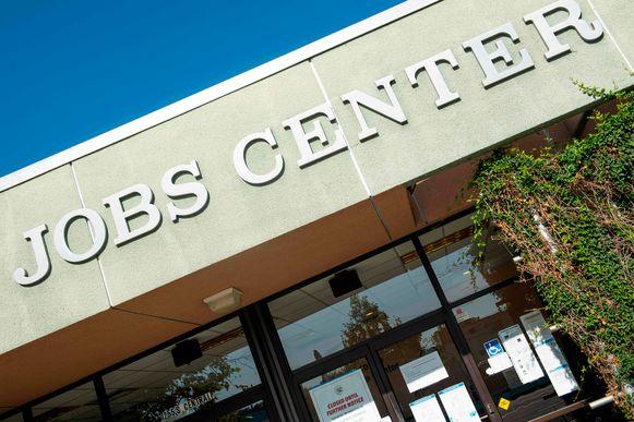 Een werkloosheidsbureau in Glendale, Californië.