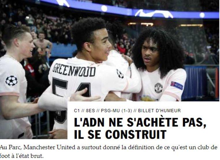 """""""DNA koop je niet, dat bouw je op"""", is de kop bij het Franse magazine 'So Foot'."""