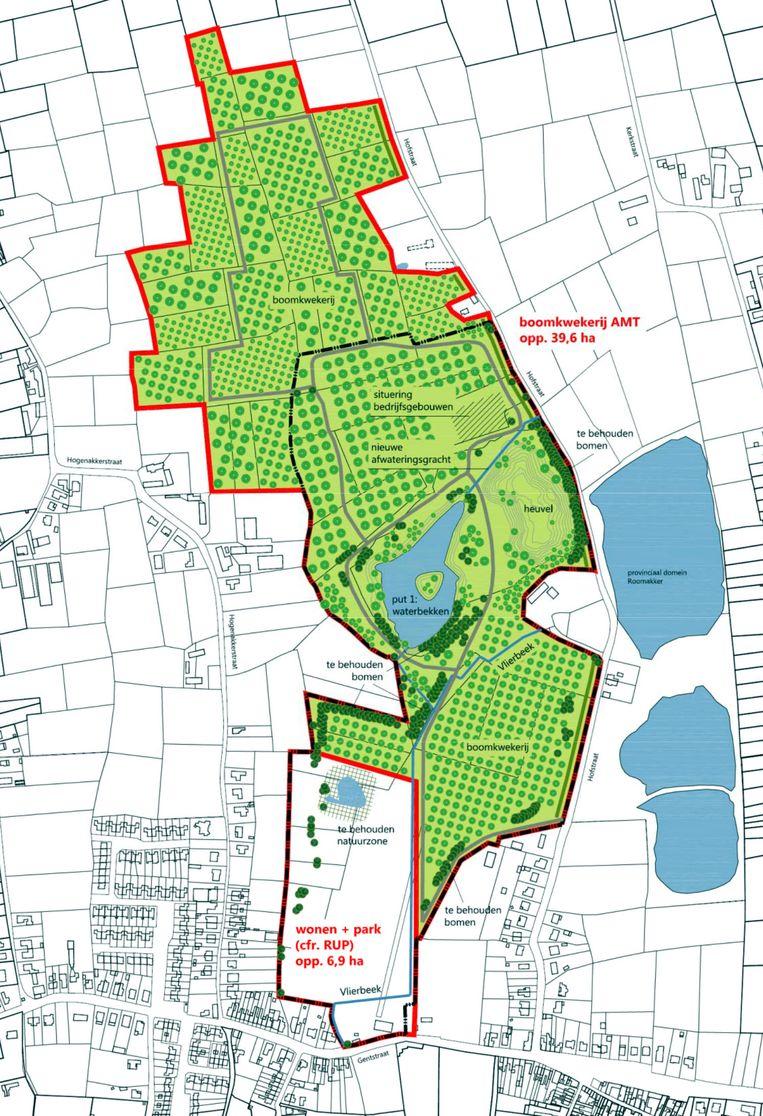 Het plan voor de site van de voormalige steenbakkerij in Tielrode.