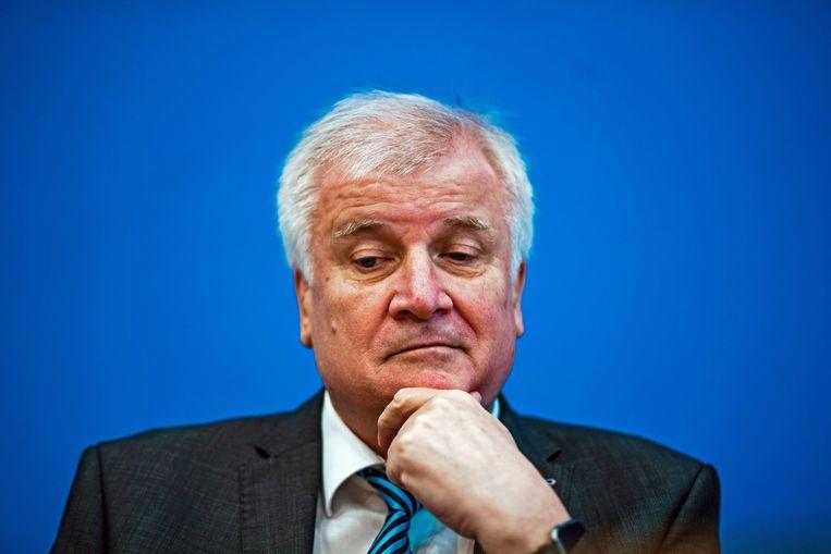 De Duitse minister Horst Seehofer van binnenlandse zaken. Beeld EPA